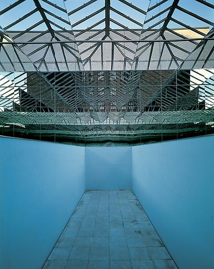 installation view of Eliasson no ceiling