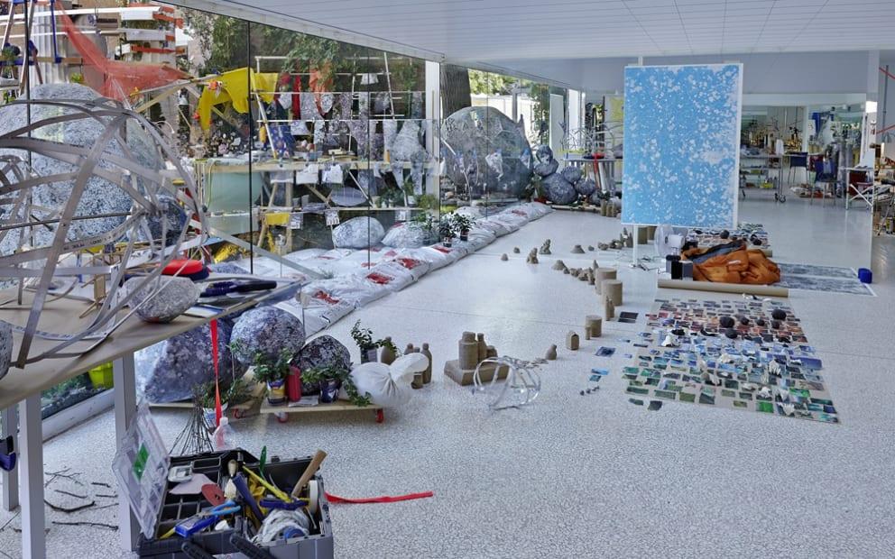 Image of Sze installation, studio set up