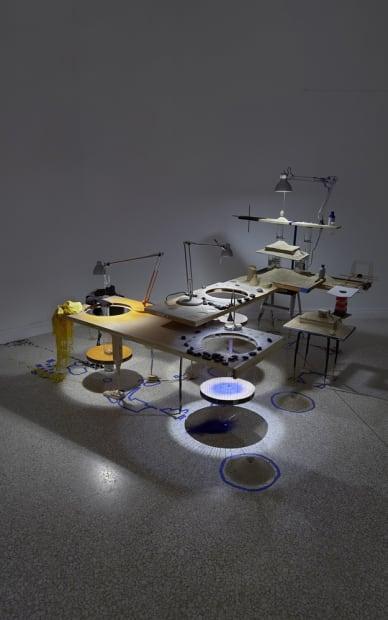 Image of Sze installation, eclipse