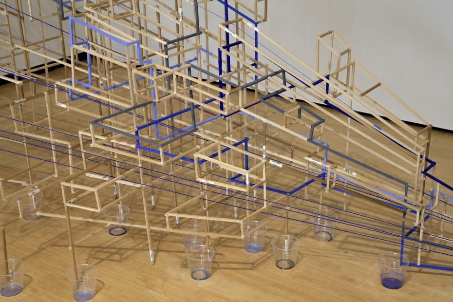 Image of a sculpture made of multiple objects