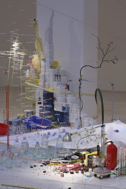 Image of a Sarah Sze sculptural installation