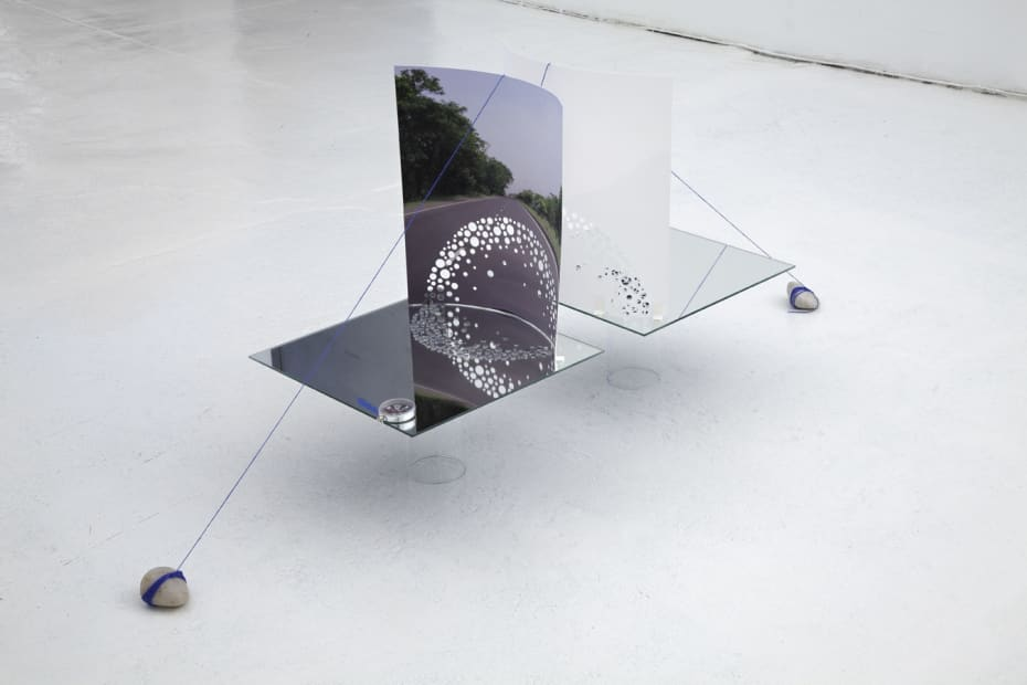 Image of Sze Sculpture installation with mirrors