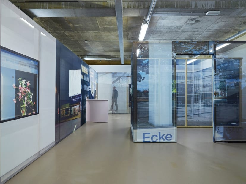 Image of installation image of Sabine Hornig structure with transparent panels