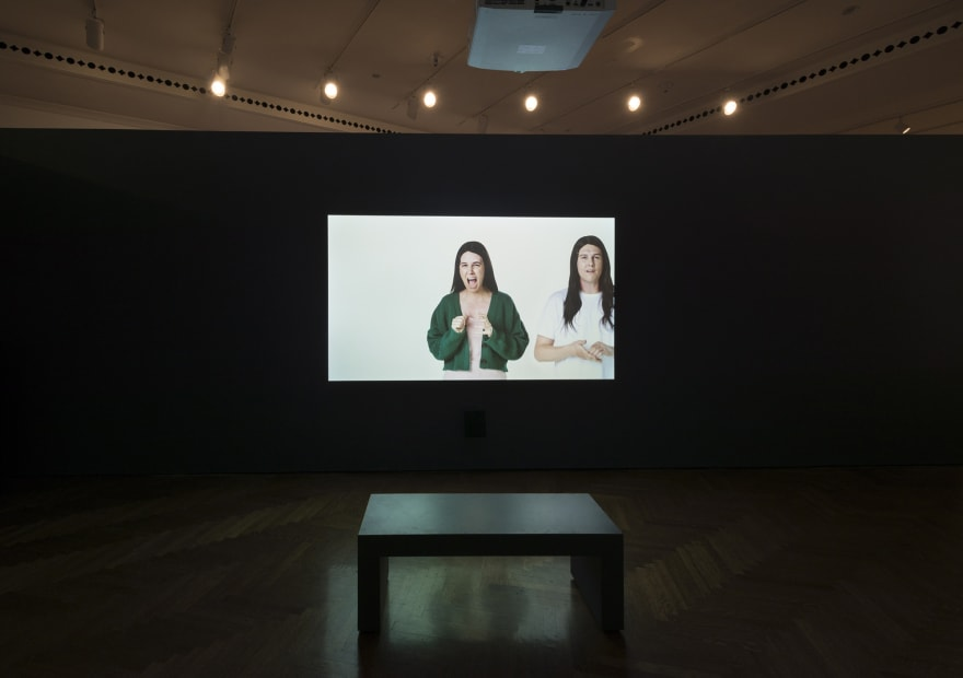 Image of Wearing video installation, still image