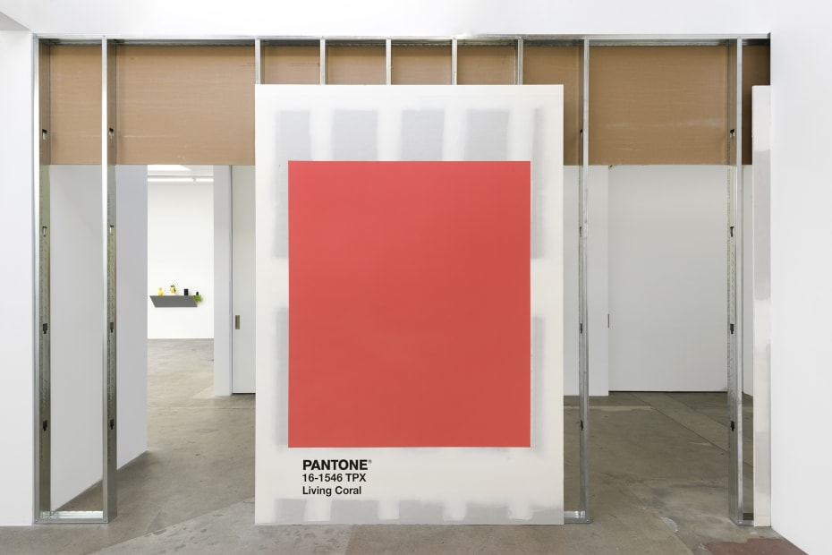 Haim Steinbach installation view pantone wall