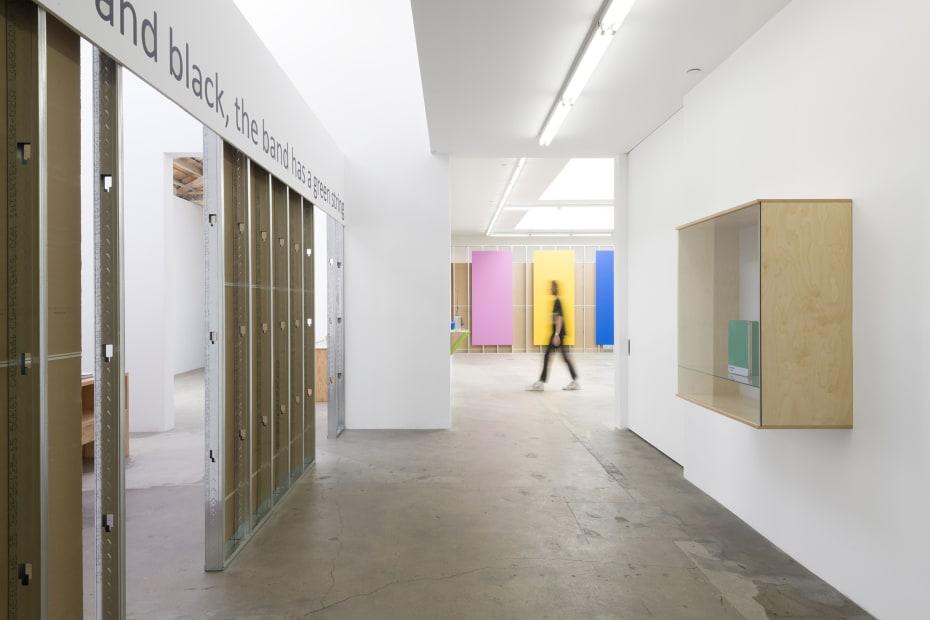 Haim Steinbach installation view entryway