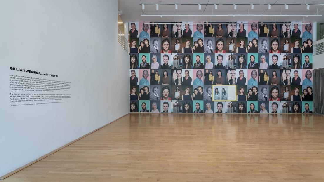 image of Gillian Wearing wallpaper, images of her at different ages