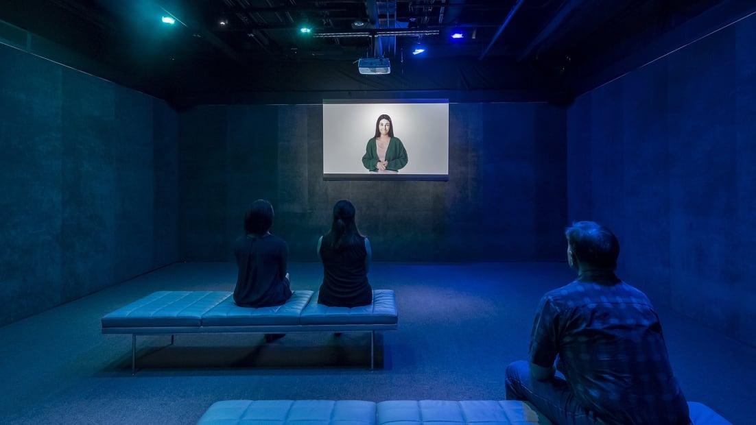 image of Gillian Wearing video, video still