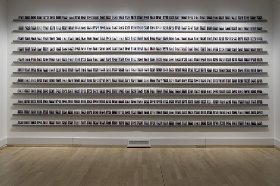 rows of Gillian Wearing polaroids