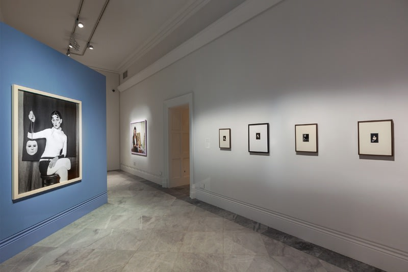 Installation view of Gillian Wearing at National Portrait Gallery, photographs