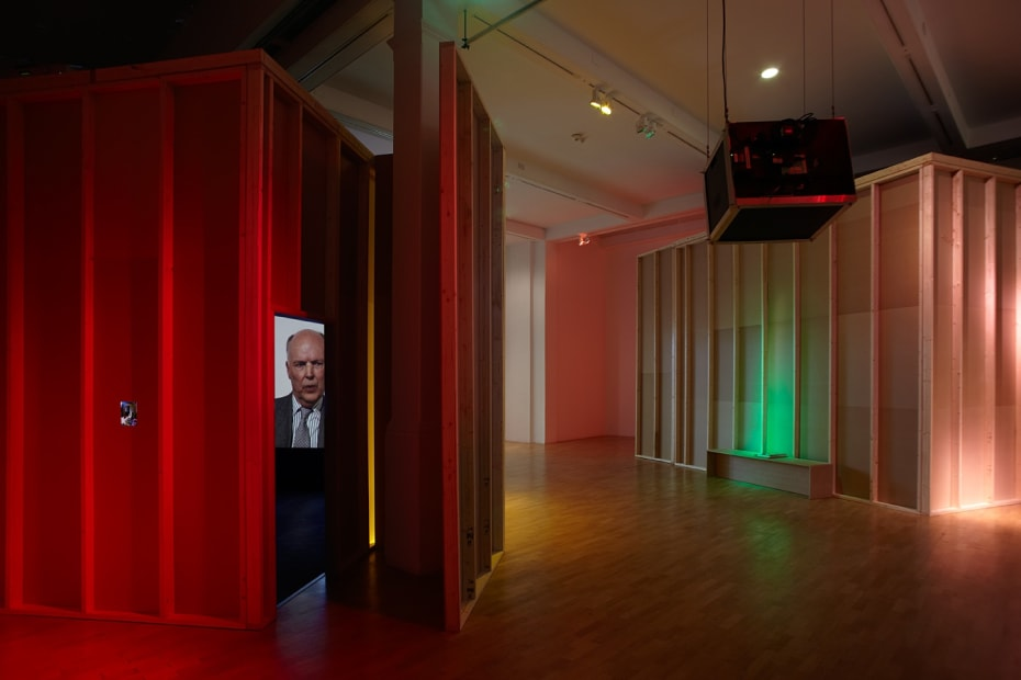 Installation view of Gillian Wearing at Whitechapel Gallery, London