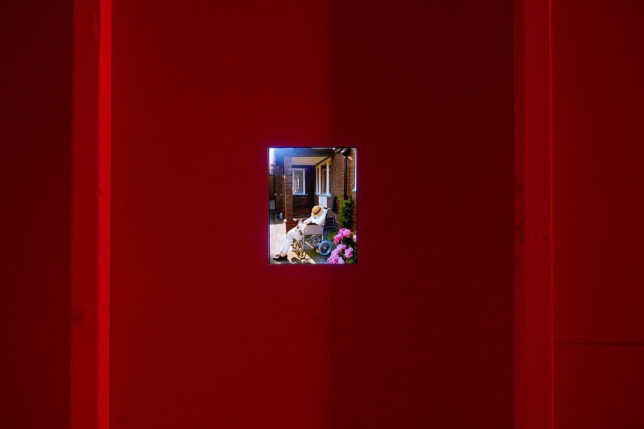 Installation view of Gillian Wearing at Whitechapel Gallery, London, video still