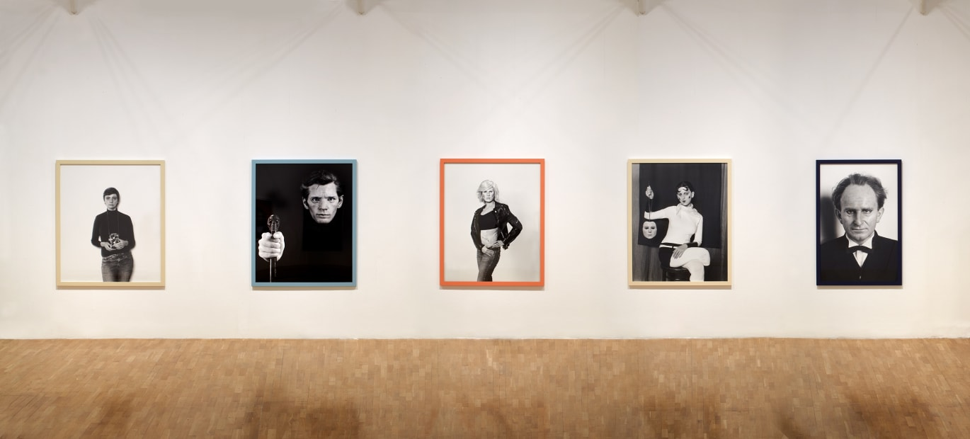 Installation view of Gillian Wearing at Whitechapel Gallery, London, me as artist series of photographs