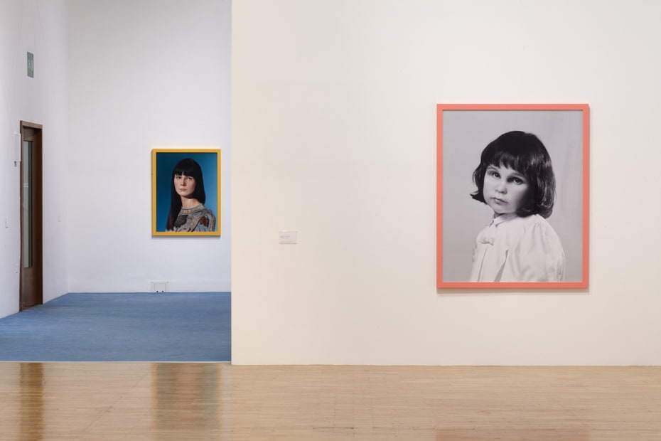 Installation view of Gillian Wearing at Whitechapel Gallery, London, me as family series of photographs