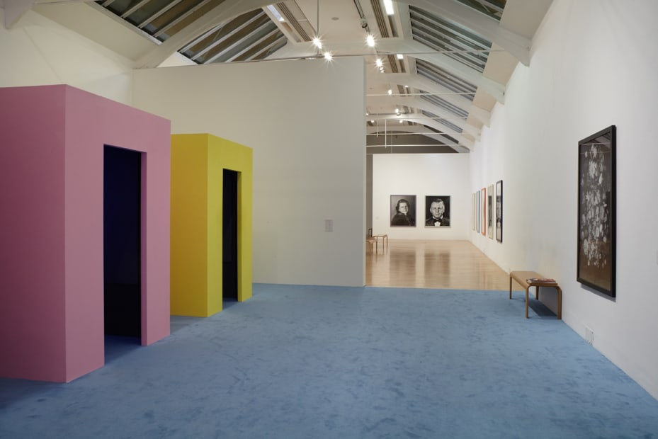 Installation view of Gillian Wearing at Whitechapel Gallery, London, video booths