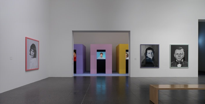 image of Gillian Wearing colorful video rooms, video still