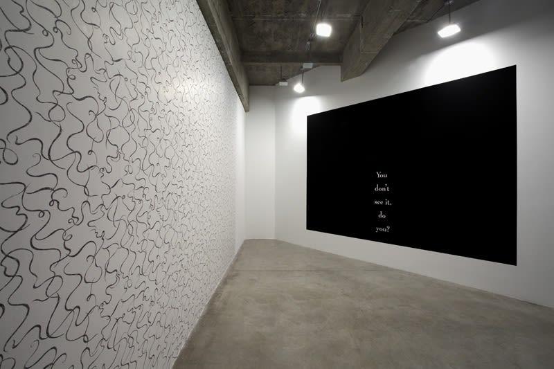 Haim Steinbach installation view of wall text