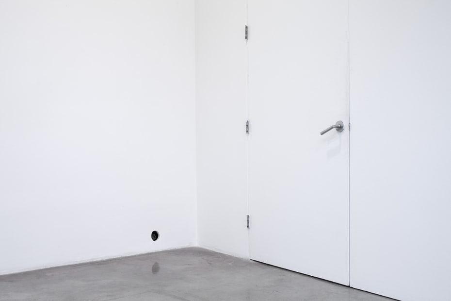 Haim Steinbach installation view of wall hole