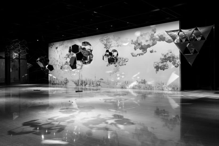 image of Saraceno cloud cities installation