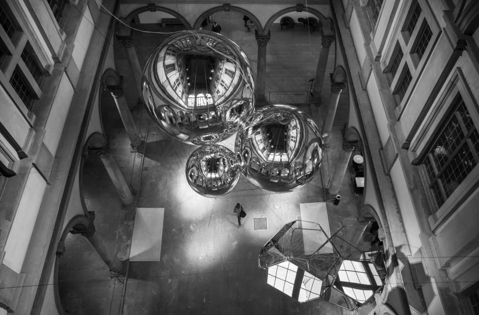 image of biosphere sculptures hanging