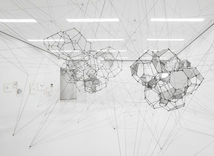 image of Saraceno cloud cities installation with mirrors