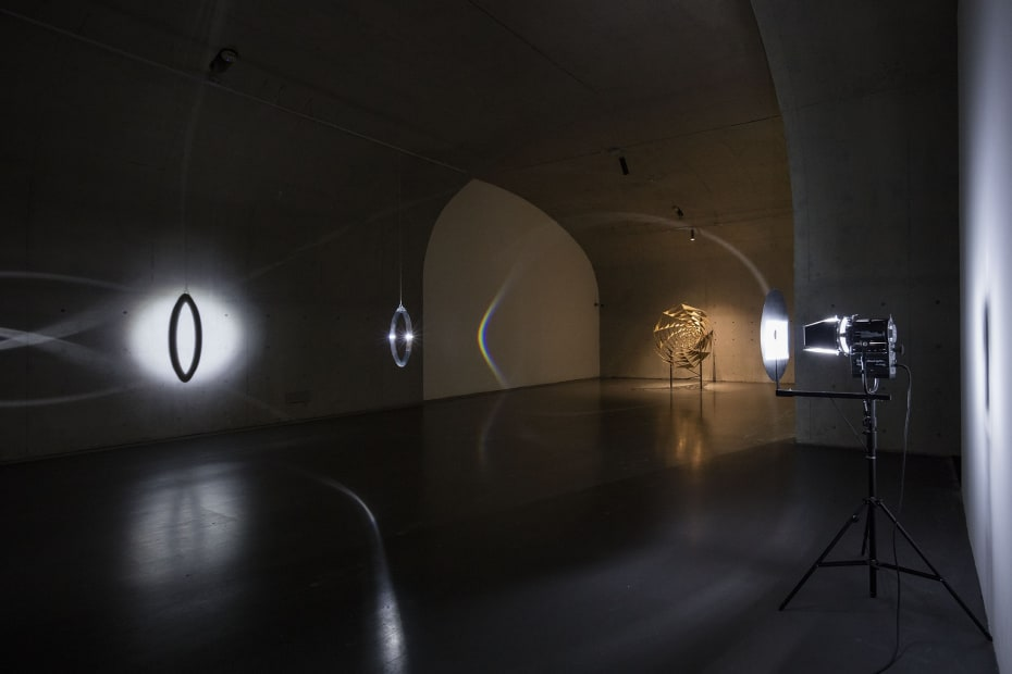 image of installation with lights