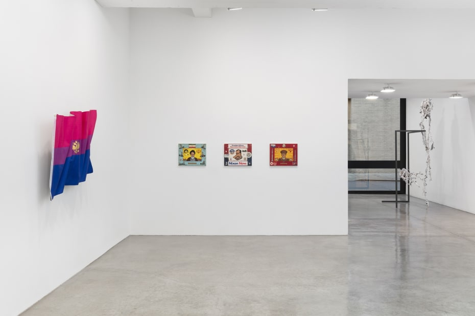 """This is a installation image of """"Songs in the Dark"""" at Tanya Bonakdar Gallery, New York, 2020."""