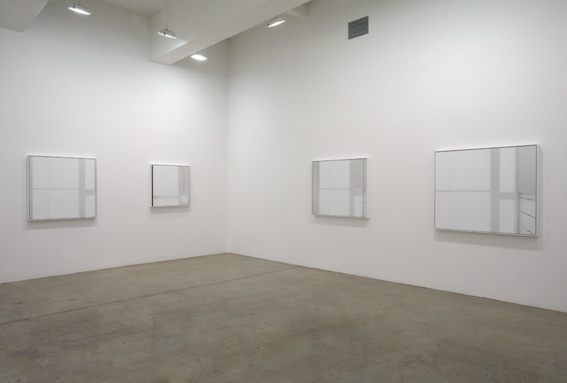 Uta barth installation view of light composition photos at TBG
