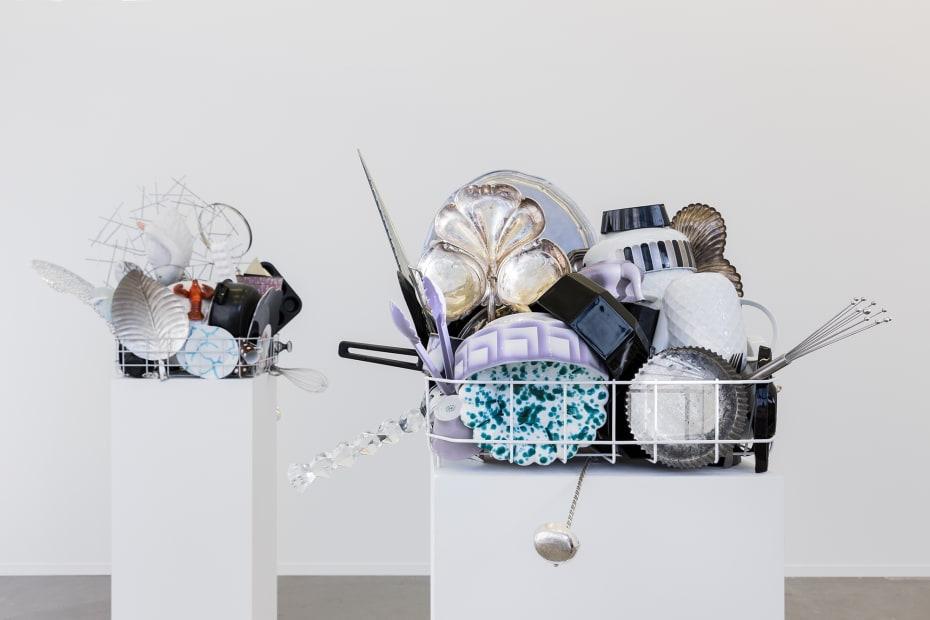 image of dishwash rack sculptures
