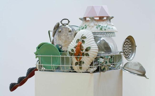 image of a dish rack sculpture
