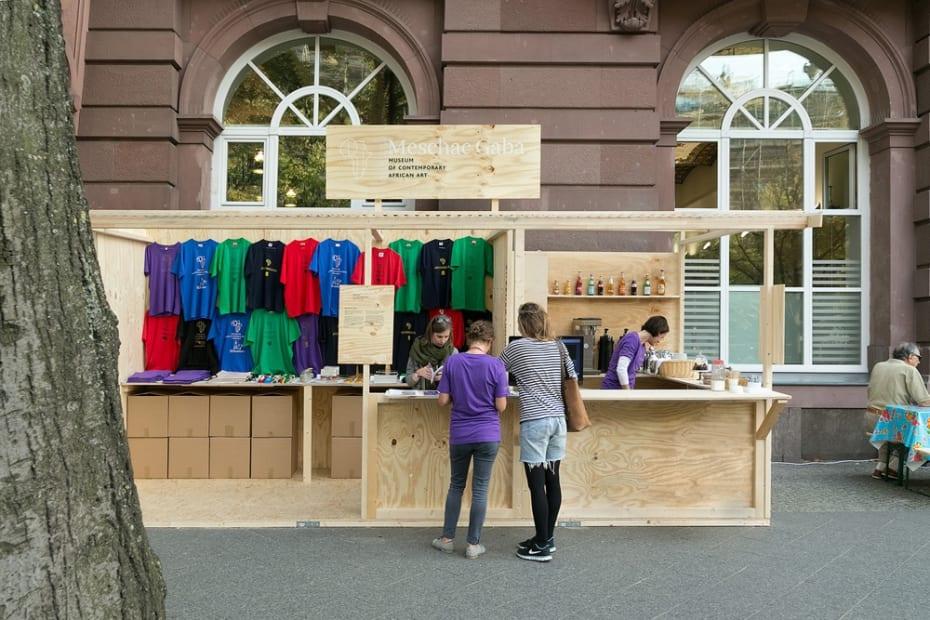 shop set up outside