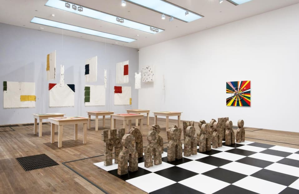 installation image of Meschac Gaba works at Tate, large chess