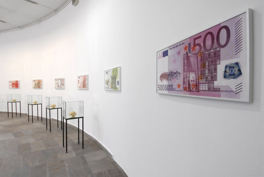 image of money prints on the wall