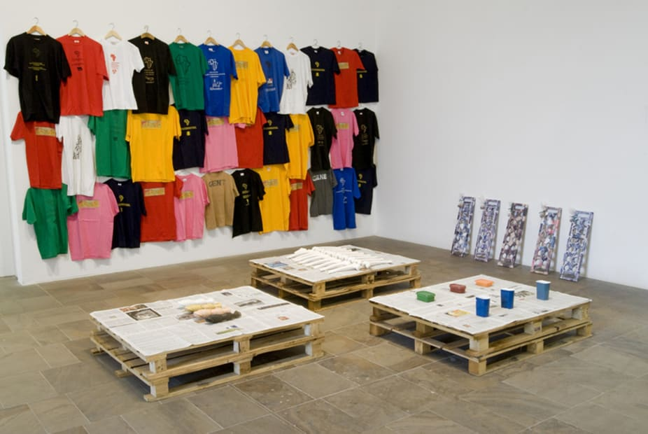 image of clothing on the wall