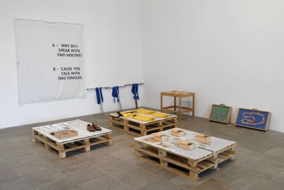 platform sculptures, installation view
