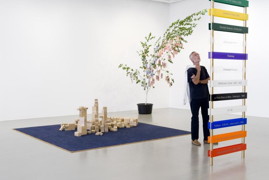 installation view of sculptures