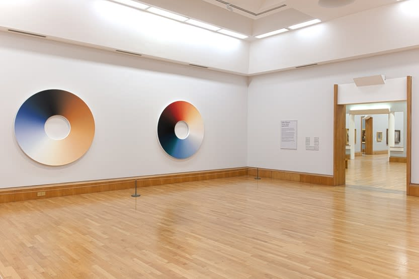 image of circular color experiment paintings by Olafur Eliasson