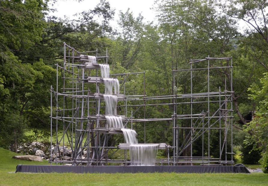image of man made waterfall