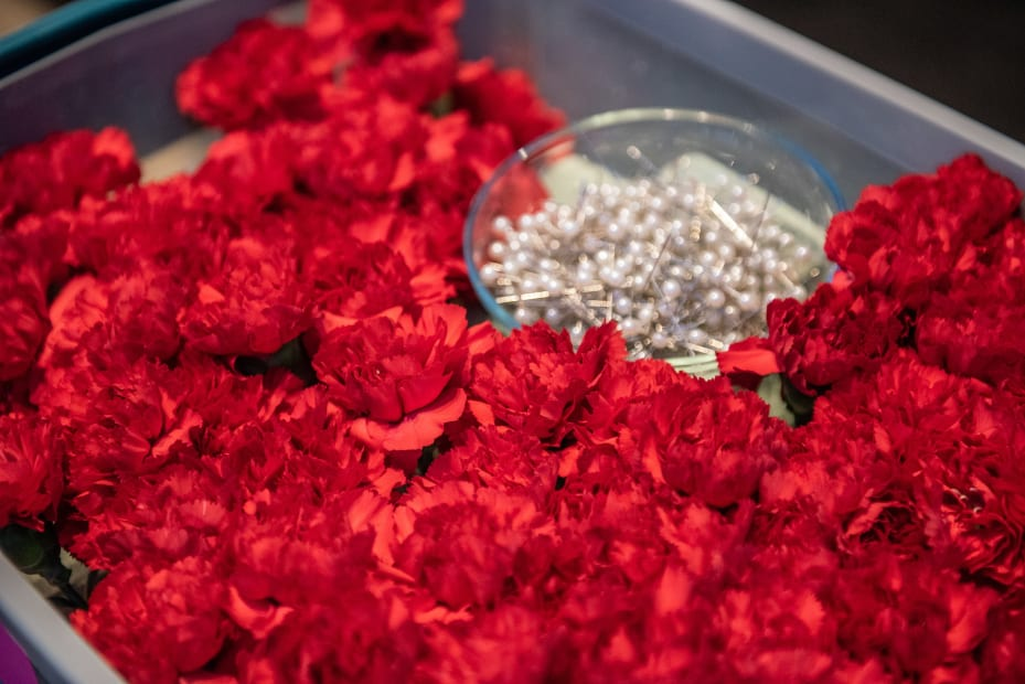 image of flowers and pins