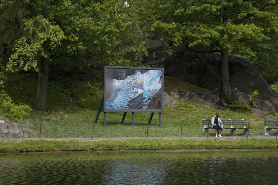 image of billboard in central park