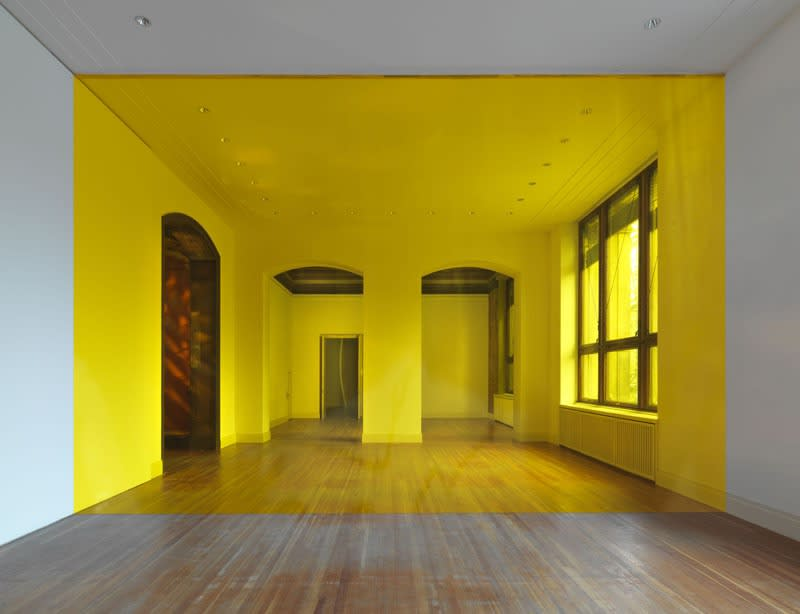 image of a yellow room separated