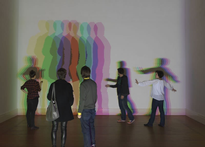 image of colorful shadow installation
