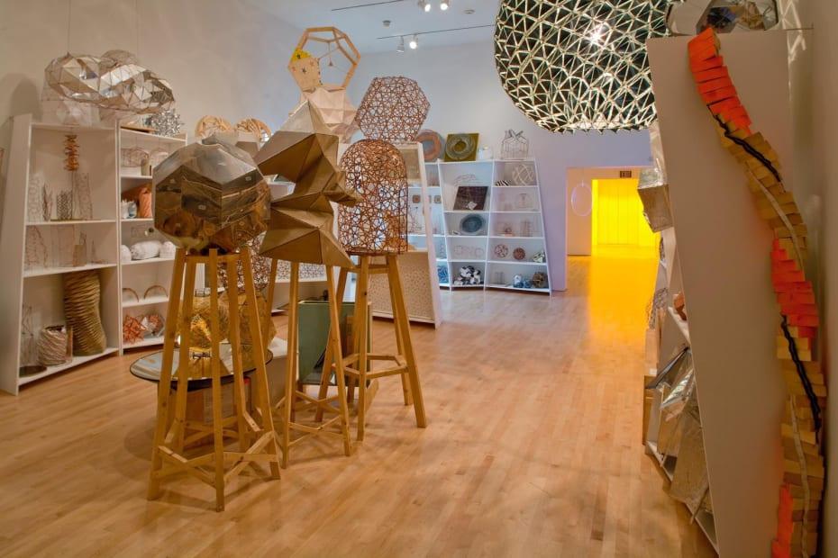 image of model room Olafur Eliasson geometric sculptures