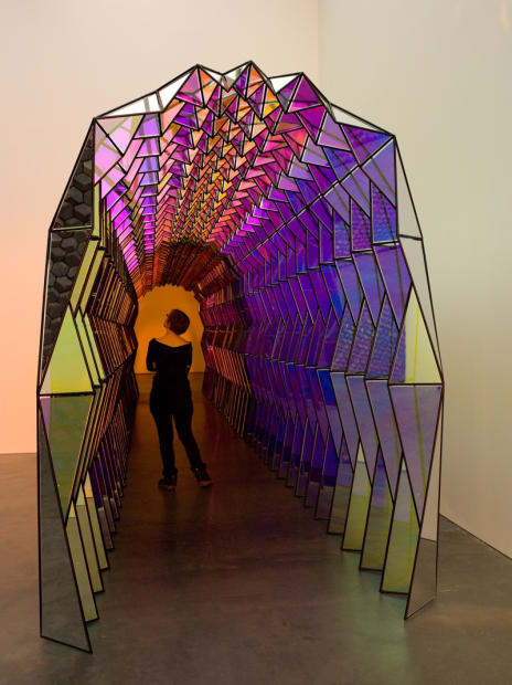 image of mirrored colorful tunnel