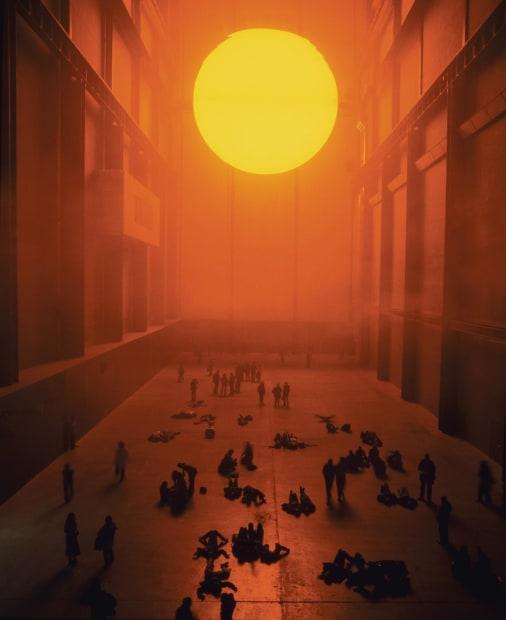 image of sun in turbine wall