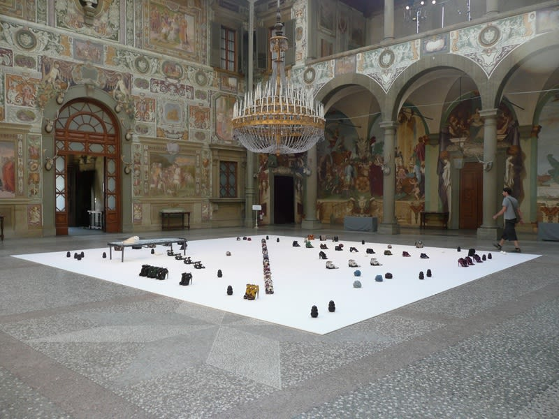 image of Steinbach floor installation with objects