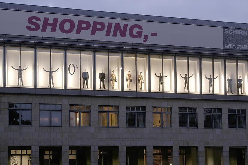 image of haim steinbach sculptures in window