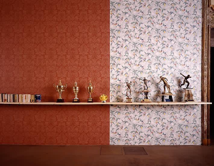 image of shelf installation by Haim Steinbach
