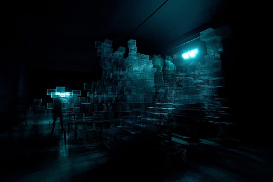 image of installation at Architecture bienniale