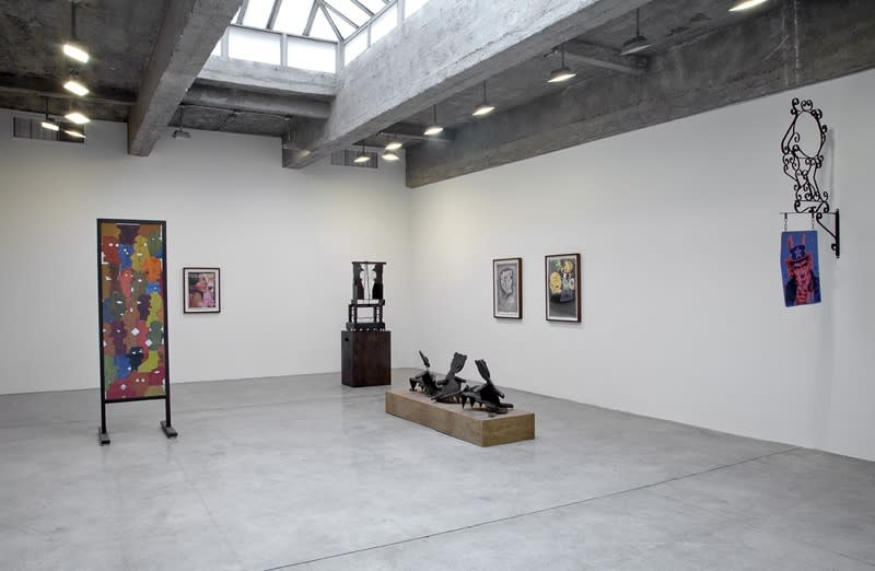 Installation images of Jason Madow's exhibition.